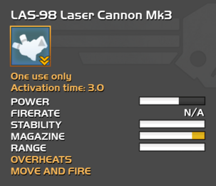 Fully upgraded LAS-98 Laser Cannon