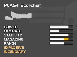 Fully upgraded PLAS-1 Scorcher