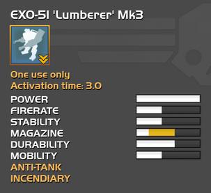 Fully upgraded EXO-51 Lumberer