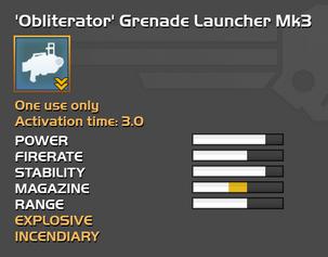 Fully upgraded Obliterator