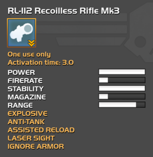 Fully upgraded RL-112 Recoilless Rifle