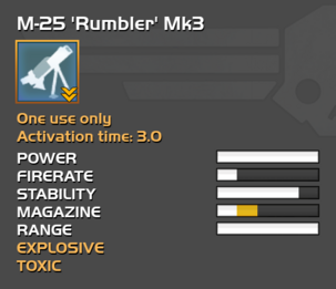 Fully upgraded M-25 Rumbler