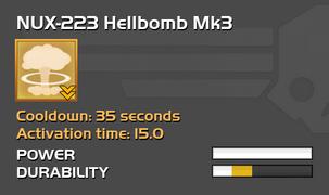 Fully upgraded NUX-223 Hellbomb