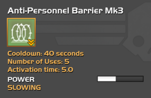 Fully upgraded Anti-Personnel Barrier