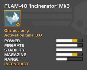 Fully upgraded FLAM-40 Incinerator