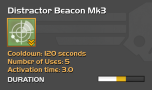 Fully upgraded Distractor Beacon