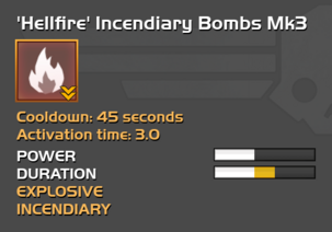 Fully upgraded to Hellfire Incendiary Bombs