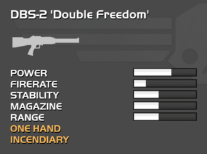 Fully upgraded DBS-2 Double Freedom