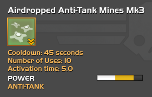 Fully upgraded to Airdropped Anti-Tank Mines