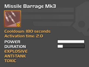 Fully upgraded Missile Barrage