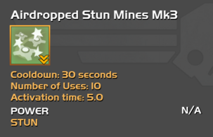 Fully upgraded Airdropped Stun Mines
