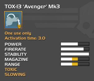 Fully upgraded TOX-13 Avenger
