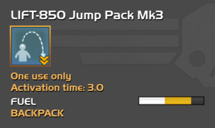 Fully upgraded LIFT-850 Jump Pack