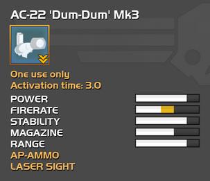 Fully upgraded AC-22 Dum-Dum