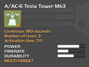 Fully upgraded A/AC-6 Tesla Tower
