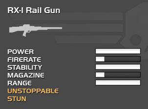 Fully upgraded RX-1 Rail Gun
