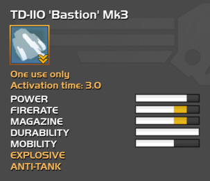 Fully upgraded TD-110 Bastion