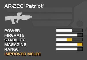 Fully upgraded AR-22C Patriot
