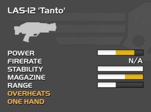 Fully upgraded LAS-12 Tanto