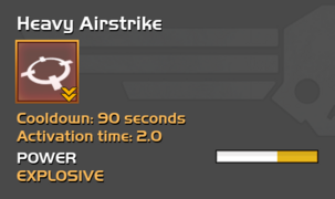 Fully upgraded to Heavy Airstrike