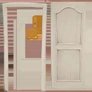 Текстура реалестичной белой двери