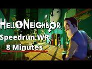 Hello Neighbor Speedrun Any% WR -8 MINUTES-