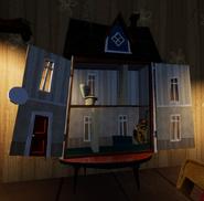 Открытый кукольный домик