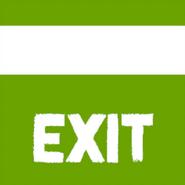Текстура таблички Exit