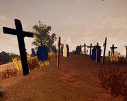 Множество надгробий в Alpha 2