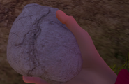 Камень в руке главного героя