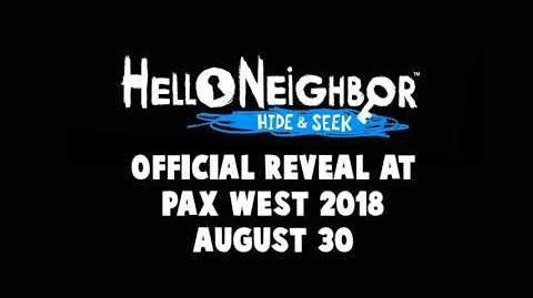 Hello Neighbor Hide & Seek - Reveal Coming August 30th