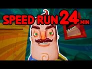 Hello Neighbor Full Game Speedrun -24 MINUTES-