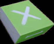 Зелёная коробка