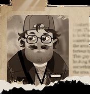 Обрывок газеты с изображением Квентина со страницы diary