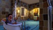 Сосед моется в ванной