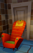 Armchair-propped door