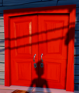 Red double door