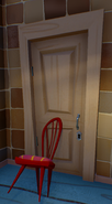 Chair-propped door