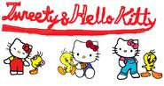 Sanrio Characters Tweety Hello Kitty Image015