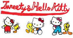 Sanrio Characters Tweety Hello Kitty Image015.png