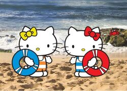 Mimmy and Kitty at the beach.jpg