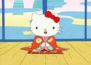 Hello Kitty in a kimono
