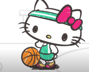 Hello Kitty green sports outfit