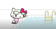Hello Kitty by the pool