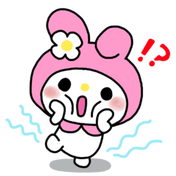 My melody 1 photo sticker transparent overlay by mcjjang-d7rxlwi.png