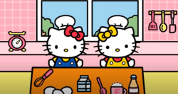 Kitty and MImmy baking.PNG