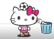 Hello Kitty playin football