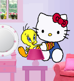 New Tweety and Hello Kitty wall decals..png