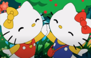 Kitty and Mimmy high five