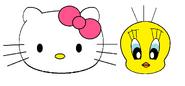 Sanrio Characters Tweety Hello Kitty Image006